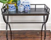 Sale 8298 - Lot 3 - A Black Hallway Console Table by La Maison