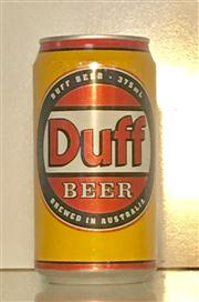 Sale 8516A - Lot 42 - A Duff beer can. 12cm high