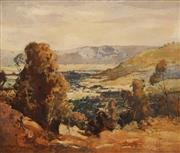 Sale 8624A - Lot 5075 - James Muir Auld (1879 - 1942) - Overlooking the Country Valley 33 x 39cm