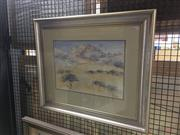Sale 8707 - Lot 2011 - Diana K Cameron - Lowreld watercolour, 56 x 66cm, signed lower right