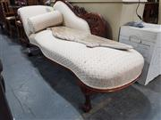 Sale 8740 - Lot 1376 - Mahogany Framed Upholstered Chaise with Cushions