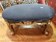 Sale 8904 - Lot 1037 - Pair of Carved Gilt Footstools