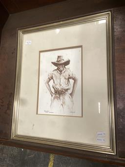 Sale 9094 - Lot 2078 - Thomas (Tom) McAulay Young Bindi: Station Roustabout ink and watercolour (AF) 44 x 37cm, signed lower right