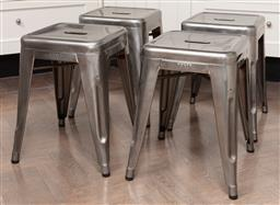 Sale 9130H - Lot 61 - Set of four Tolix stools, Height 48cm