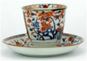 Sale 8079 - Lot 52 - Early Qing Chinese Imari Style Export Ware Teacup and Dish