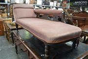 Sale 8093 - Lot 1734 - Late Victorian Chaise Lounge In Pink Upholstery