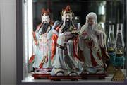 Sale 8160 - Lot 63 - Chinese Three Immortal Figures