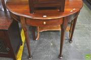 Sale 8338 - Lot 1438 - Single Drawer Demilune Hall Table