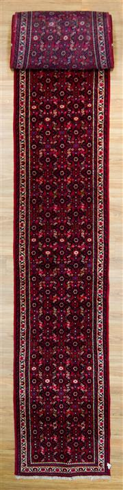 Sale 8566C - Lot 65 - Persian Husinabad Runner 975cm x 80cm
