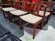 Sale 8661 - Lot 1085 - Good Set of Four Danish Teak Wishbone Dining Chairs
