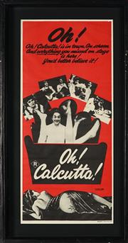 Sale 8822A - Lot 5047 - Oh! Calcutta - 72 x 32cm