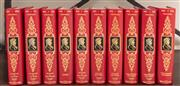 Sale 8868H - Lot 27 - A set of ten red French leather-bound books, retailed by John De Bollet, Paris