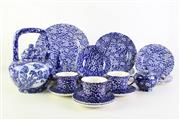 Sale 8944T - Lot 682 - Blue and white ceramic Queen's part service together with a Chinese teapot