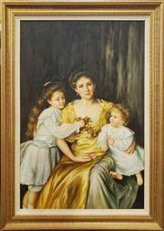 Sale 8973 - Lot 2008 - Artist Unknown An Edwardian Family Portrait acrylic on canvas, 107