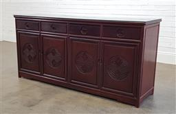 Sale 9174 - Lot 1149 - Rosewood 4 drawer sideboard with 4 doors (h:86 x w:182 x d:48cm)