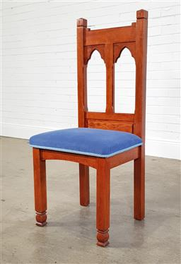 Sale 9218 - Lot 1091 - Timber gothic dining chair (h113 x d48cm)