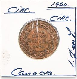 Sale 9253 - Lot 22 - A 1920 Canadian one cent