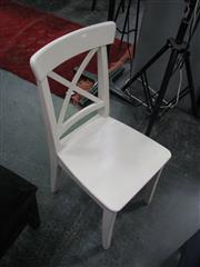 Sale 7972A - Lot 1074 - Set of 4 Modern Crossback Dining Chairs in White