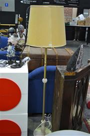 Sale 8127 - Lot 826 - Brass And Alabaster Standing Lamp