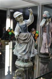 Sale 8296 - Lot 4 - Lladro Figure Of Lady And Bird