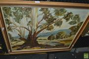 Sale 8417T - Lot 2060 - Preston, Landscape, oil on canvas board, 49.5 x 59.5cm, signed lower right