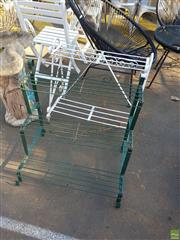 Sale 8566 - Lot 1448 - Two Tiered Plant Stand Together with Three Tier Plant Stand
