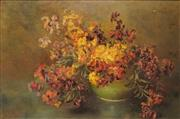 Sale 8613 - Lot 2026 - Artist Unknown (Early C20th) - Floral Still Life 39.5 x 60cm