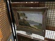 Sale 8711 - Lot 2021 - Elliot Smith - Bay Scene, 1952oil on board,40 x 47.5cm signed and dated lower left -