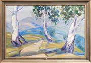 Sale 9053 - Lot 2021 - Dorothy Payn, Landscape, oil on board, 35 x 49 cm (frame), signed lower right