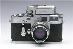 Sale 9093 - Lot 1 - A Leica M3 Camera, Fitted With Light Meter Summicron Lens (f=5cm 1:2)