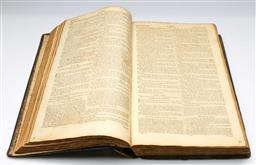 Sale 9164 - Lot 215 - A leather bound copy of the old and new testaments of the Holy Bible