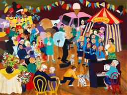 Sale 9216A - Lot 5054 - DENISE PARK Fete Opening oil on canvas 76 x 102 cm signed lower right, titled verso