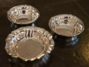Sale 7981B - Lot 65 - A pair of Hallmarked silver nut dishes, plus A Hallmarked silver berry bowlR