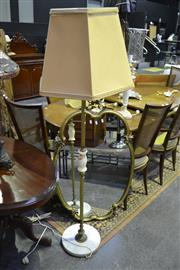 Sale 8127 - Lot 831 - Brass And Alabaster Standing Lamp