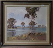 Sale 8636 - Lot 2007 - J. Thomas - The Riverbank oil on canvas board, 55 x 65.5cm (frame), signed lower right