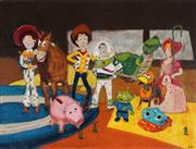 Sale 8891 - Lot 2031 - Stanley Perl - Toy Story, acrylic on canvas, 46 x 61cm, signed lower right