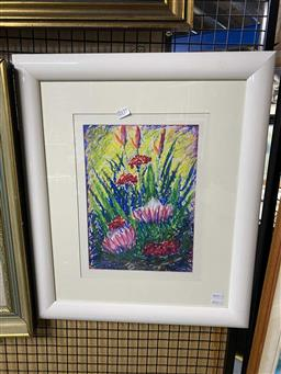 Sale 9176 - Lot 2177 - Dean Vella Wildflowers acrylic on board 32 x 23cm, signed lower right