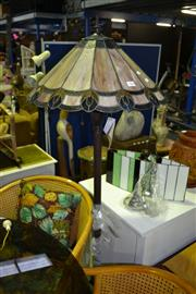 Sale 8013 - Lot 1066 - Lead Light Shade Standing Lamp