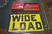 Sale 8099 - Lot 840 - Vintage Explosive Carry All and Wide Load Sign