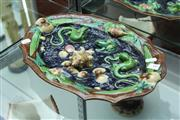 Sale 8151 - Lot 10 - French Antique Majolica Palissy Style Display Plate