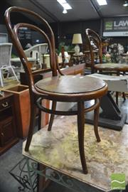 Sale 8299 - Lot 1063 - Pair of Thornet Dining Chairs with Pressed Seats