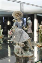 Sale 8296 - Lot 6 - Lladro Figure Of Girl And Dog