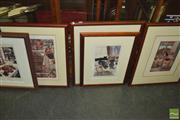 Sale 8425T - Lot 2086 - Artworks (2) incl an Aquatint Etching of Two Ibis signed Rourke 79 & a Print (AF)