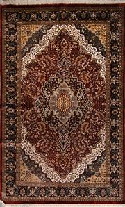 Sale 8447C - Lot 28 - Indian Silk & Wool 240cm x 150cm