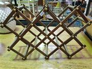 Sale 8462 - Lot 1088 - Pair of Fold Out Wine Racks