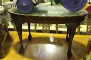 Sale 8499 - Lot 1053 - Timber Coffee Table with Piecrust Edge
