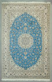 Sale 8539C - Lot 35 - Super Fine Persian Nain (with signature) 320cm x 200cm
