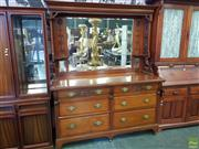 Sale 8566 - Lot 1399 - Timber Mirrored Back Sideboard (196 x 58 x 160)