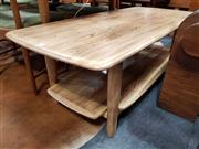 Sale 8801 - Lot 1086 - Quality Ercol Elm 2 Tier Coffee Table