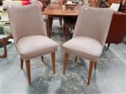 Sale 8782 - Lot 1080 - Set of 6 Paul Kafka Dining Chairs